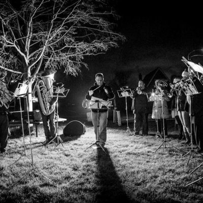Brass Band at Christmas Carols on Three Corners