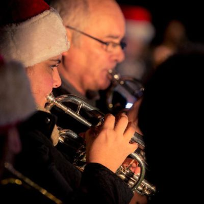 Christmas Carols, cornet player