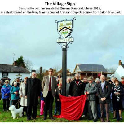 The village sign, 2012