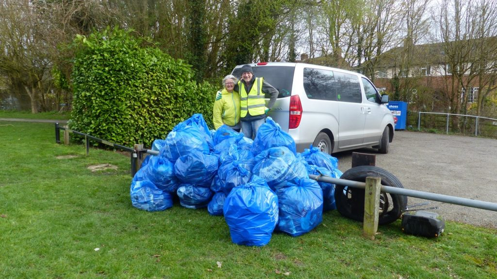 Finished & filled bags after Litter Pick Day 16th March 2019