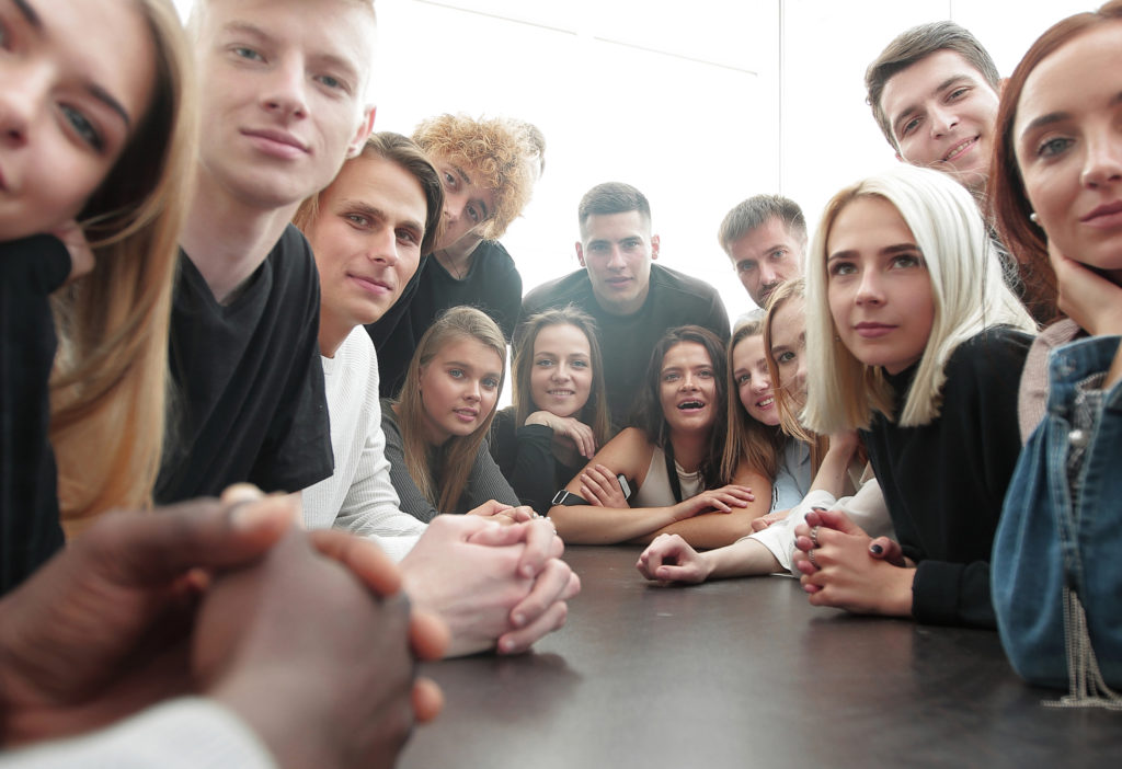 Group of young people