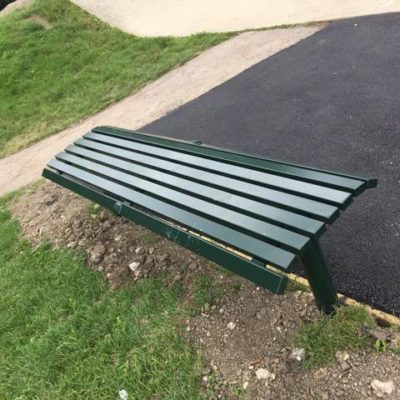 Skatepark Bench And Path