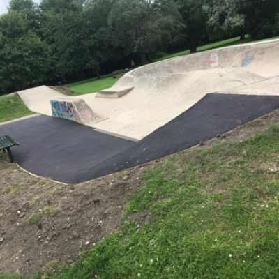 Repaired Skate Park Path And Bowl Edging Fixes
