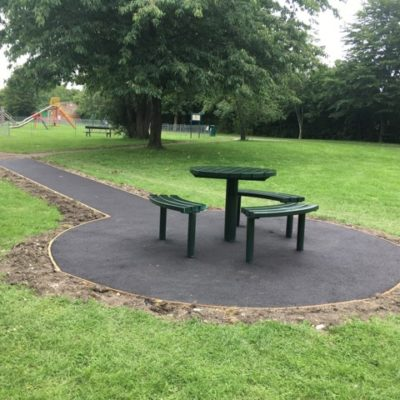 School Lane Picnic Bench Seating And Path Area